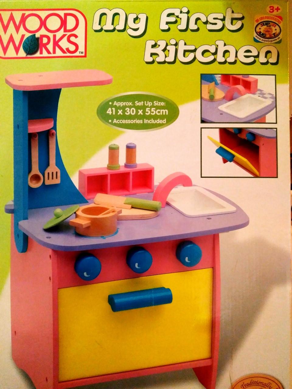 Cocina infantil madera superjuguete montoro for Cocina infantil madera